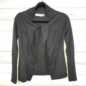Anthro   Sparrow Wool Blend Tie Front Cardigan